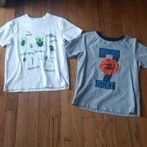 Boys gymboree shirt lot glow n dark bug basketball
